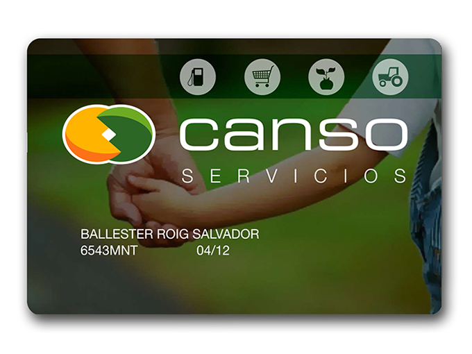 Tarjeta Canso servicios